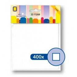 Двойно лепящи 3D квадратчета - 5мм x 5мм (2 мм) - 400бр. - 3D Foampads Squares 5*5*2мм
