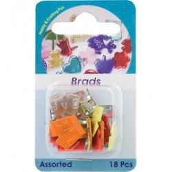 Брадс панталонки - 18бр. - (5803)-Brads, short pant, assorted colour, 18 pcs