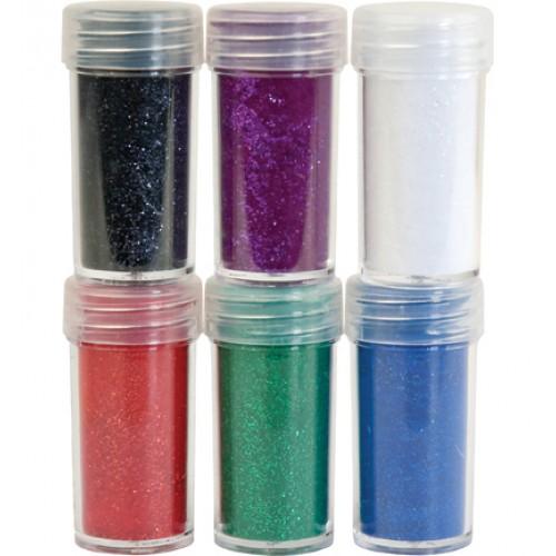 Комплект от 6бр. брокат и натрошено кадифе  - Velvet Powder set 2