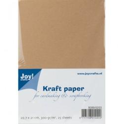 Крафт картон А4, 25 листа, 300гр. - Kraft Paper A4-25vel(300grs)
