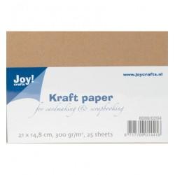 Крафт картон А5, 25 листа, 300гр. - Kraft Paper A5-25vel(300grs)