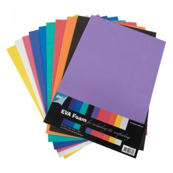 10бр. фоам листи А4, дебелина 1мм - Foam A4 1mm 10vel,10 kleuren