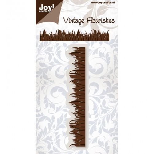 Щанца трева, размери 12 x 2.1cm - Joy Crafts, C&E Stencil border gras