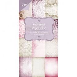 Блокче дизайнерска хартия - Romance - 24 листа, 15 х 30см.