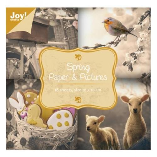 Дизайнерско блокче - Пролет - Joy Crafts - Spring - 10см х 10см