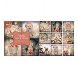 Блокче с дизайнерски хартии 10см х 10см - Papierblok Autumn - Paper & Pictures
