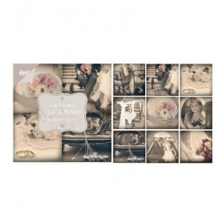 Дизайнерски картони 10x10cm, 18 листа, 200gr - Just Married