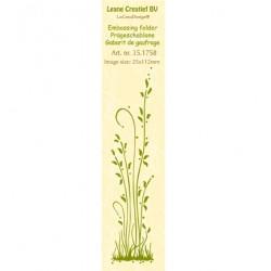 Бордюрна папка за релеф трева - Border embossing folder Grass long
