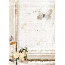 Двустранен дизайнерски лист А4, дървена шарка - 170гр. - StudioLight - Basisvel My Botanic Garden nr.171