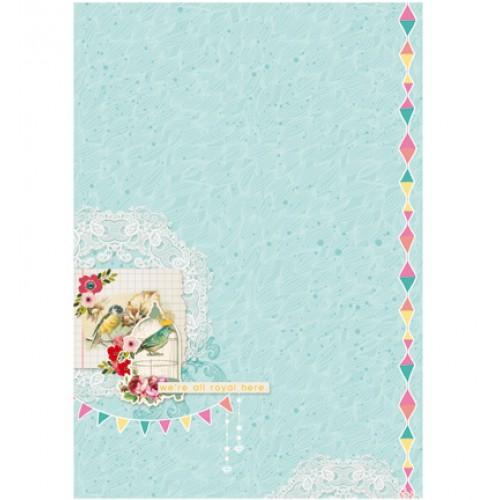 Двустранен дизайнерски лист А4, 170гр. - StudioLight - Basisvel Flower Delight nr.184