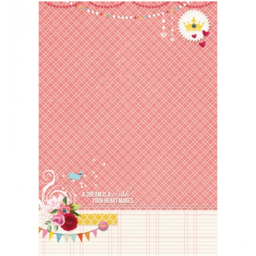 Двустранен дизайнерски лист А4, 170гр. - StudioLight - Basisvel Flower Delight nr.185