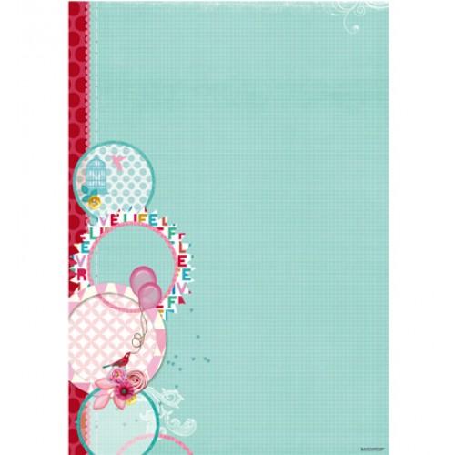 Двустранен дизайнерски лист А4, 170гр. - StudioLight - Basisvel Flower Delight nr.187