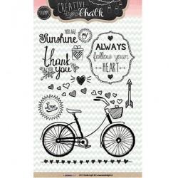 Дизайнерски силиконов печат с колело - Stamp A6 Chalk nr.98