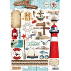 Лист A4 за 3D декупаж морски мотиви - Easy 3D stansvel Summer at the Beach nr.474