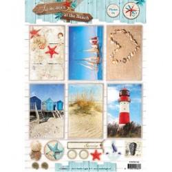 Лист A4 с морски мотиви - Stap voor Stap Vel Summer at the Beach nr.1342
