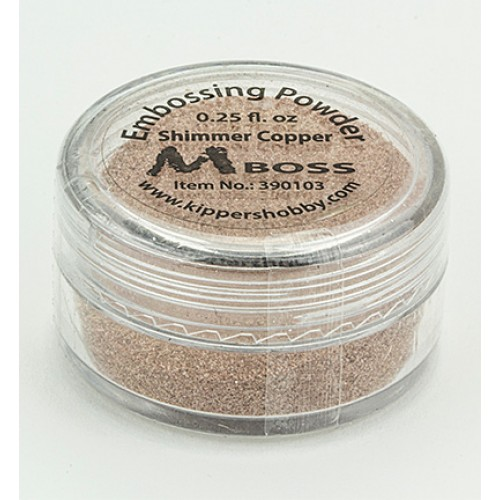 Медна ембосинг пудра - Mboss embossing Powder Shimmer Copper