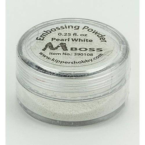 Перлено бяла ембосинг пудра - Mboss embossing Powder Pearl White