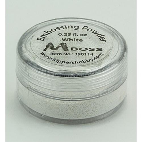 Бяла ембосинг пудра - Mboss embossing Powder White