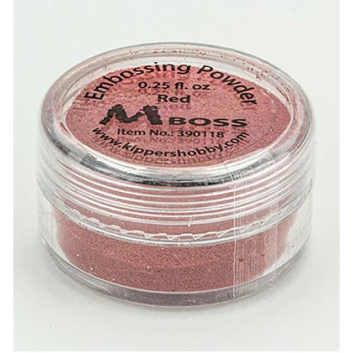 Червена ембосинг пудра - Mboss embossing Powder Red