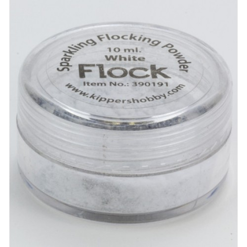 Натрошено кадифе - бяло с брокат - Sparkling Flocking Powder White