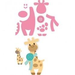 К-т от тънки метални щанци жираф - Marianne Design Collectable Eline's Giraffe