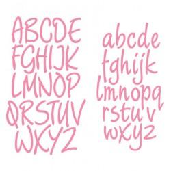 К-т тънки метални щанци азбука - малки и главни букви - Marianne Design Collectable Charming alphabet