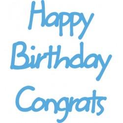 Тънки метални щанци - Marianne design - Creatables Happy Birthday,Congrats