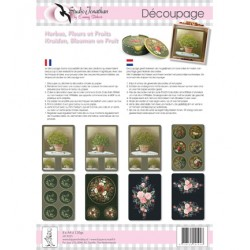 Комплект от 8бр. А4 листи за декупаж - Decoupage Kruiden, fruit en bloemen(8vel xA4)