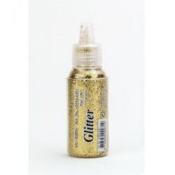 Сух брокат злато, едър - Glitter Fine, Gold, 15 gr.