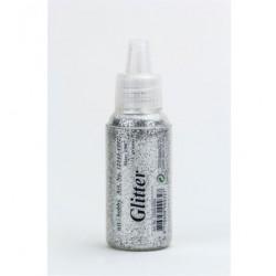 Сух брокат сребро, едър - Glitter Fine, Silver, 15 gr.