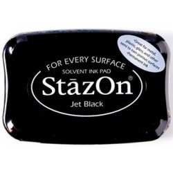 Перманентно черно мастило - StazOn - Jet Black