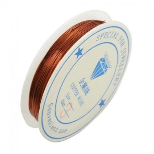 Медна тел - мед - 0.3мм - Metal Copper Wire - Copper - 10 метра
