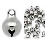 Качествени декоративни метални звънчета - сребро - 10х10х15мм - 10бр.
