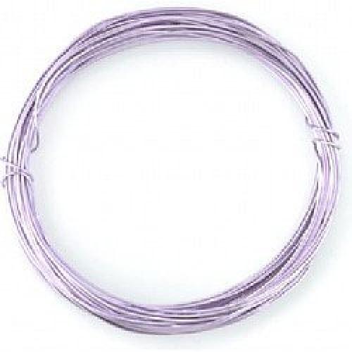 Бижутерска тел - бледо лилава - Lilac Coloured Wire - 1 мм - 6 метра
