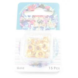 Айлети - злато - Eyelets Flowers - Gold - 10mm - 15бр.