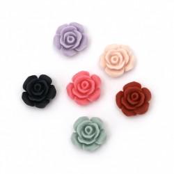 10бр. микс рози от полимер с размери 13x6мм - пастел