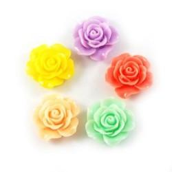 10бр. микс рози от полирезин с размери 15x8мм