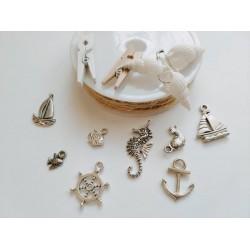 Декоративни елементи - висулки, канап, рапанчета, щипчици и метални висулки - Лято