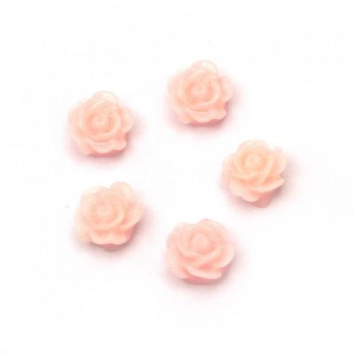 20бр. розови розички от полимер с размери 6x3мм