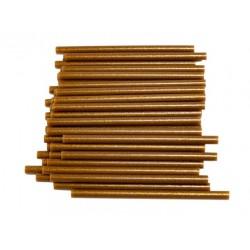 Брокатени силиконови пръчки - злато - 7.5х200мм - 1 бр.