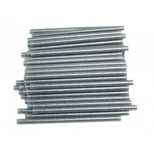 Брокатени силиконови пръчки - сребро - 7.5х200мм - 1 бр.