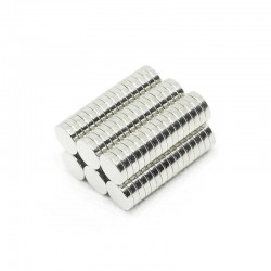 Магнит никел 8 х 2 мм - 10 броя