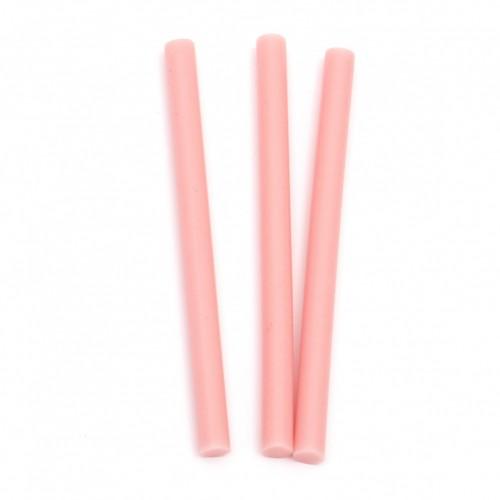 Розова силиконова пръчка - 7x100 мм - 1бр.