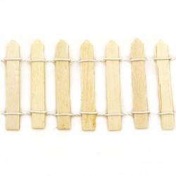 Декоративна дървена ограда - натурална - 900x50 мм