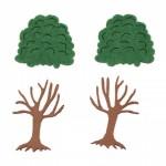 Декоративно дърво - фоам/EVA материал/ 60x40 мм и корона филц 40x45 мм - 2 броя