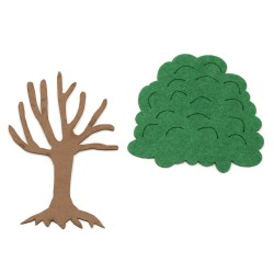 Декоративно дърво - фоам/EVA материал/120x80 мм и корона филц 90x95 мм