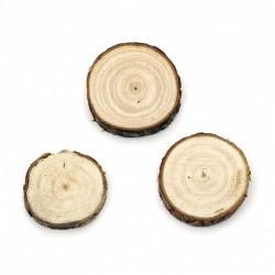 Дървена шайба:  30~40x10 мм - 5 броя
