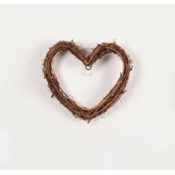 Декоративно сърце от клонки за декорация - 10 х 10см