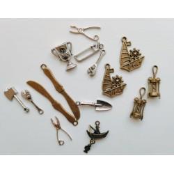 Комплект от метални елементи - мъжки сет от метални висулки