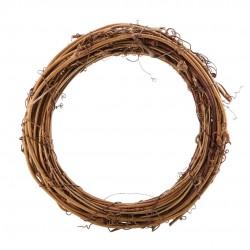Венец от лозови клонки - естествени материали - D - 23см